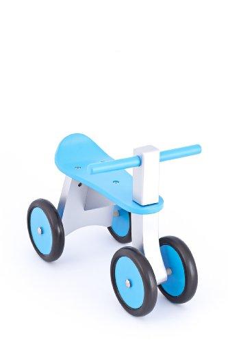 *United Kids 13016-04 Rutscher / Rutschfahrzeug Ben aus Holz, blau*