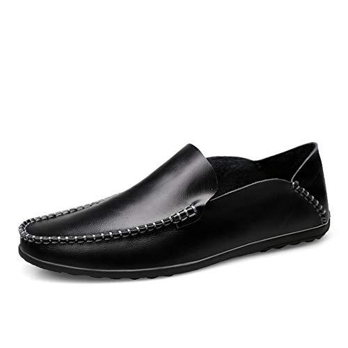 Lässige und bequeme Bootsschuhe Driving Loafers für Herren Slip On Kunstleder Bootsschuhe Erfahrene Genähte Lug Sole Super Flexible Klassische Moderne Gommino Flache Penny Schuhe Klassische Retro-Slip -