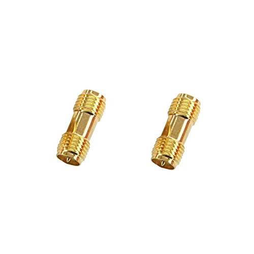 VIDOO 2Pcs Rp-SMA Female to Rp-SMA Female Rf Coaxial Adapter Connector