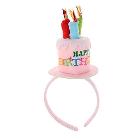 MagiDeal Geburtstag Kuchen Kerzen Stirnband Mädchen Party Haarband Geschenk - Rosa (Halloween Kostüme Arts And Crafts)