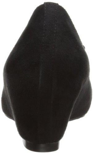 Lunar Flc412, Peep-Toe femme Noir