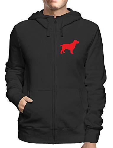 Sweatshirt Hoodie Zip Schwarz WES066037 Silhouette A Cocker Spaniel Dog A Wall Art Sticker IN 4 Sizes & 24 Colours Cocker Spaniel T-shirt Sweatshirt