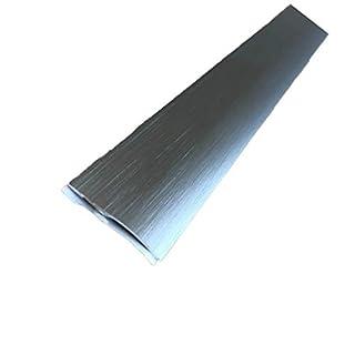 ⭐️ Carpet Cover 26mm x 0.93M Brushed Aluminium Self-Adhesive Threshold Door Floor Trim Transition Bar TMW Profiles (Brushed Titanium)