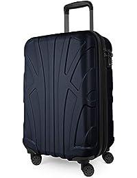 Suitline - Bagaglio a mano Valigia Trolley da Cabina rigido TSA ABS 4 ruote