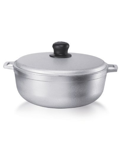 Imusa gau-80505 W Bread Set Cooking Pot Pan Set, Aluminium, Aluminium, 5.5 l)