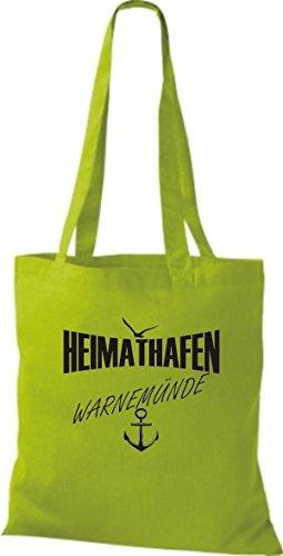Shirtstown stoffbeutell port d'attache warnemünde plusieurs couleurs Vert - Citron vert