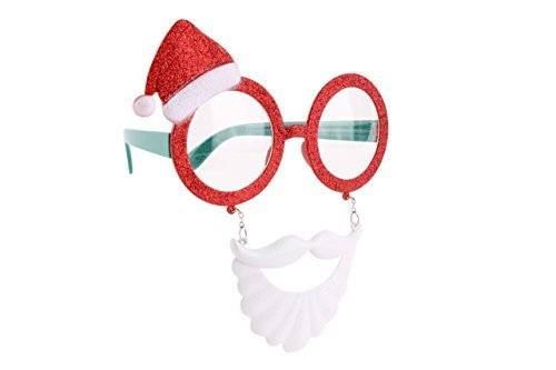 SANTA BEARD & HAT NOVELY GLASSES - Novelty Party Fancy Dress Childrens Adults by BCBGMAXAZRIA