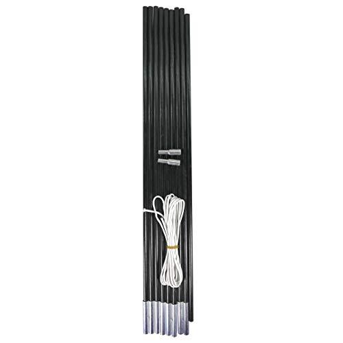 Preisvergleich Produktbild Best Sporting Fiberglas Stab für Zelte,  9-teilig,  Länge 450 cm Glaserfaserstab,  farblich Sortiert
