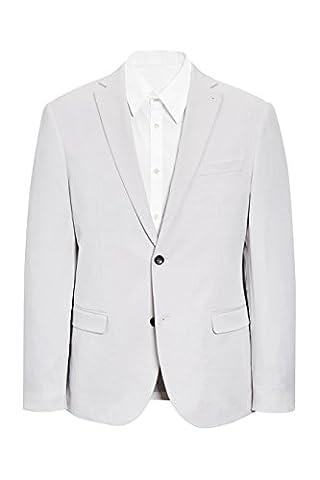 next Homme Coupe Slim Veste De Costume En Coton Naturel Eu 101.5 Regular (Uk 40R)