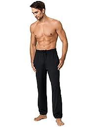 Herren Sporthose Jogginghose ideale Fitnesshose und Freizeithose lang mit zwei Hosentaschen in schwarz von Gwinner - Warmline