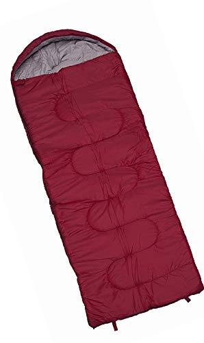 aleichter und kompakter Schlafsack ideal für Kinder, Jungen, Mädchen, Teenager und Erwachsene, ideal für Wandern, Rucksacktouren und Camping, Innen- und Außenbereich, Rot (165/250) ()