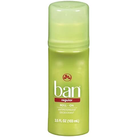 Ban Roll-On Antiperspirant Deodorant, Regular, 3.5-Ounce Bottles by Ban