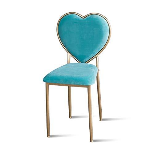 Zyh sgabello dressing camera da letto, colorato salone di bellezza nail chair soggiorno sala da pranzo sedia poltrona, 42 * 42 * 85cm vari stili (colore : c)