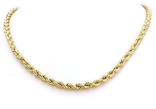 18 Karat / 750 Gold Kordelkette Gelbgold Unisex Kette - 2.50 mm. Breit - Länge wählbar (50)