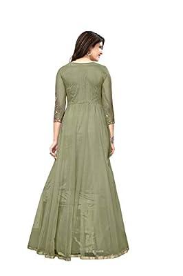 Royal Export Women's Net Long Party Wear Dress