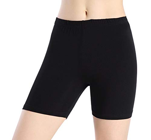 Ferrieswheel Story Damen Elastisch Shorts Under Rock Leggings - Dünn Schwarz Kurze Hose Eng Fitness -