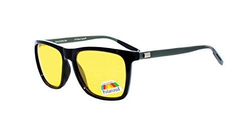 rainbow safety Auto Brille Nachtsichtbrille Nachtfahrbrille Kontrastbrille Polarisierte Gläser RWNP2 (Schwarz)
