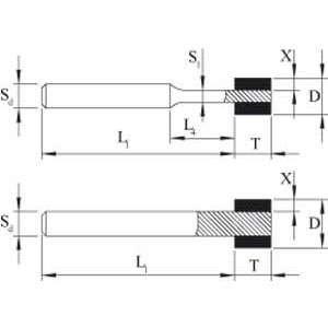 PFERD - MUELA 1A1W 4-5-1 0/3-50 B126 PHNT C100