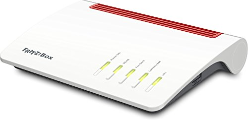 AVM FRITZ!Box 7590 High-End WLAN AC + N Router (VDSL-/ADSL, 4x4 MU-MIMO mit 1.733 (5 GHz) + 800 MBit/s (2,4 GHz), bis zu 300 MBit/s durch VDSL-Supervectoring 35b, DECT-Basis, Media Server) (Mobile Speicher)