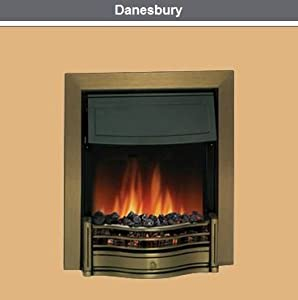 Dimplex Danesbury Optiflame Antique Brass Inset Electric Fire