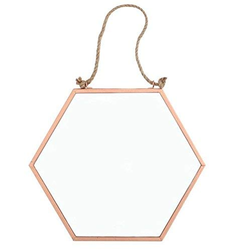Crisp Copper - Espejo geométrico hexagonal cobre
