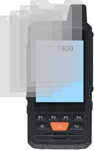 4ProTec 4X ANTIREFLEX matt Schutzfolie für Zello ZF-T800 POC Funkgerät Displayschutzfolie Bildschirmschutzfolie Schutzhülle Displayschutz Displayfolie Folie