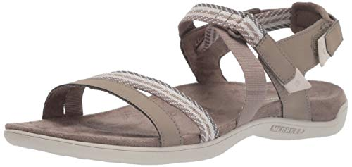 Merrell Damen District Mendi Backstrap Slingback Sandalen,Braun (Brindle),39 EU