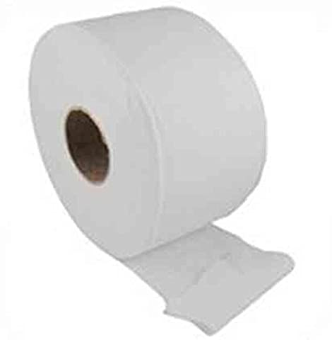 Essentials AMZEJT1 Jumbo Toilet Roll, Mini, 2-Ply, White (Pack of