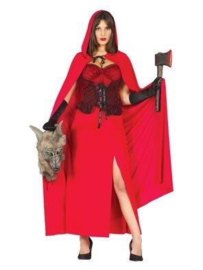 Rotkäppchen Halloween Kostüm für Damen, Größe:M