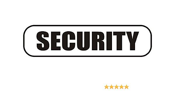 Indigos Ug Magnetschild Security 30 X 8 Cm Magnetfolie Für Auto Lkw Truck Baustelle Firma Auto