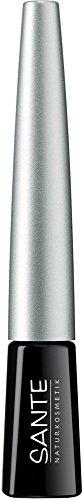 SANTE Naturkosmetik Dip Eyeliner No. 01 black, Flüssiger Eyeliner, Feine spezielle Filzspitze,...