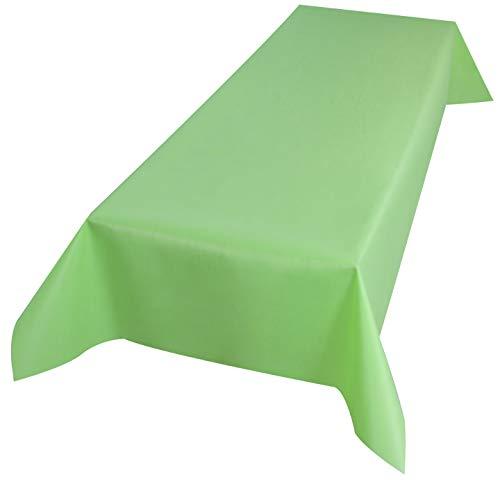 Sensalux Tischdecke, Öko-Tex 100, abwaschbar, (Farbe + Größe wählbar), apfelgrün, 1m x 2,5m,...