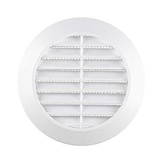 AWENTA Lüftungsgitter, ABS-Kunststoff rund, Ø 90/115 mm, weiß