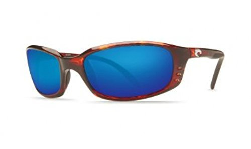 Costa Del Mar Brine Polarized Sunglasses, Tortoise, Blue Mirror 580 Glass by Costa Del Mar