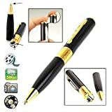 #2: Ae Zone Spy Hd Pen Camera With Voice-Video Recorder And Dvr-Hidden-Camcorder(16Gb),Black And Golden