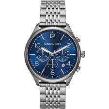 Idea Regalo - MICHAEL KORS Orologio Cronografo Quarzo Unisex Adulto con Cinturino in Acciaio Inox MK8639