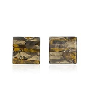 Earrings Square Acrylic Acrylic Stud Earrings versatile simple female, dark green acetic acid square tablets
