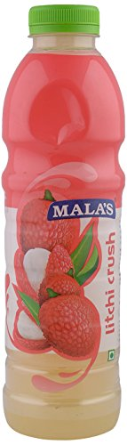 Mala's Litchi squash, 750 ml  available at amazon for Rs.112