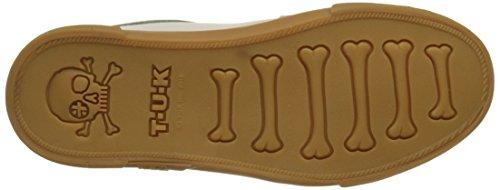 T.U.K. Vlk Creeper Sneaker Wht Leath Gum Sole, Baskets Basses Mixte Adulte Blanc (White Leather)