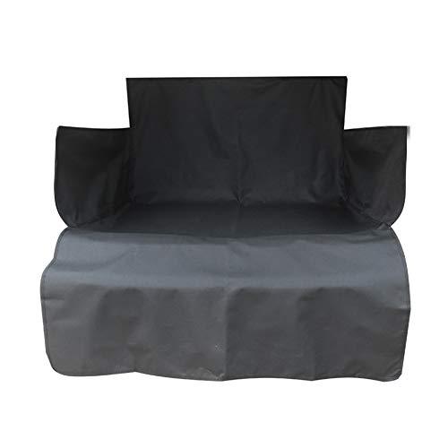 ZZX Völliger Kofferraumschutz für Hund, mit Seitenschutz Schützt den Kofferraum und die Stoßstange vor Schmutz Kofferraumdecke Hundedecke Auto 73 * 41 * 13in,Schwarz