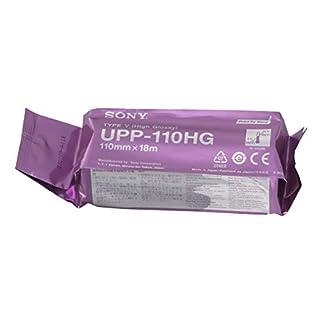 SONY UPP110HG Hochglanz-Thermopapierrollen für medizinische Schwarzweißdrucker - A6 (110mm x 18m)