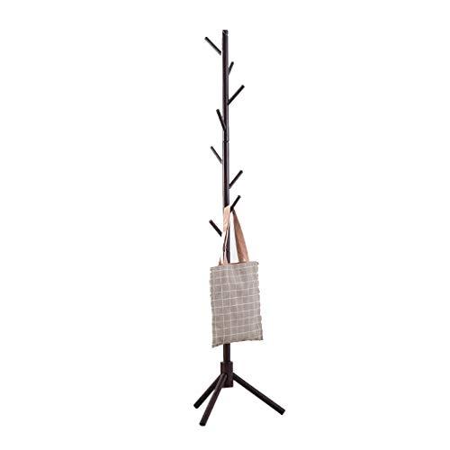 Nevy marche appendiabiti in legno massello appendini semplici per uso domestico otto ganci appendiabiti robusta capacità di sopportare, 40x40x176cm