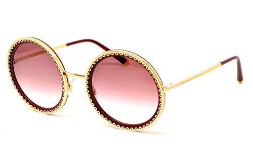 Dolce & gabbana 0dg2211, occhiali da sole donna, oro/transparente rosa, 53