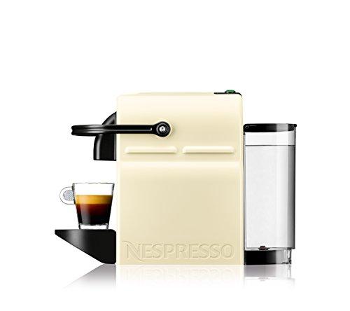 Nespresso DeLonghi Inissia EN 80CW Cafetera de cápsulas  19 bares  compacta  apagado automático  color Vanilla Cream
