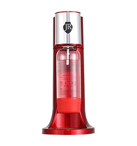 Jannyshop Haushalt Soda Bubble Machine Tee-Shop Hausgemachte Kohlensäurehaltige Getränkemaschine mit Flasche CO2 Zylinder Patrone(Rot)