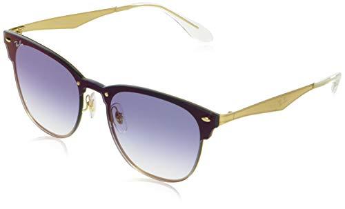 Ray-Ban Unisex-Erwachsene 0RB3576N 043/X0 41 Sonnenbrille, Brushed Gold/Cleargradientbluemirrorred,