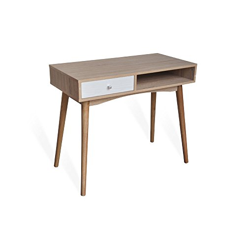 Mesa estudio, escritorio u oficina barata ODDA estilo nordico. 90 cm. (ancho) x 45 cm. (fondo) x 78 cm. (alto)