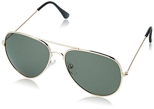 LOUIS SMIT Polarized Aviator Men\'s Sunglasses - (LS101 C2|58|Green Color)