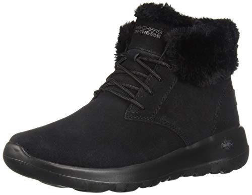 Skechers On The GO Joy-Lush, Botines para Mujer, Negro (Black Suede/Trim BBK), 38 EU