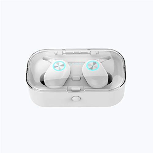 Unbekannt Bluetooth-Kopfhörer, kabellose Kopfhörer 5.0 Touch Control-kabellose Kopfhörer Bluetooth, Bluetooth-Ohrhörer, intelligente Rauschunterdrückung und Bluetooth-Batterieanzeige-White (Touch Ipod 4g Verwendet)
